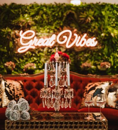 Great Vibes Neon Wedding Decoration in Cairns Venue