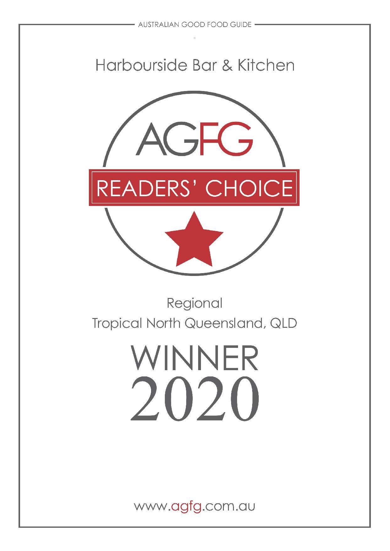 AGFG Readers Choice Award 2020